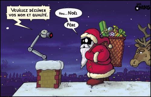 Humour, la dure vie du Père Noël !