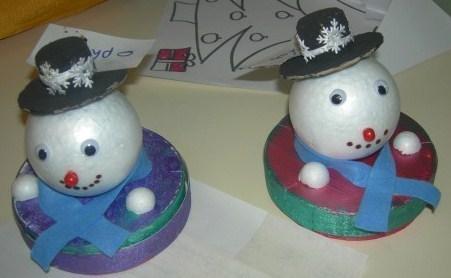 Faire des personnages en boules de polystyr ne - Comment decorer des boules de noel en polystyrene ...
