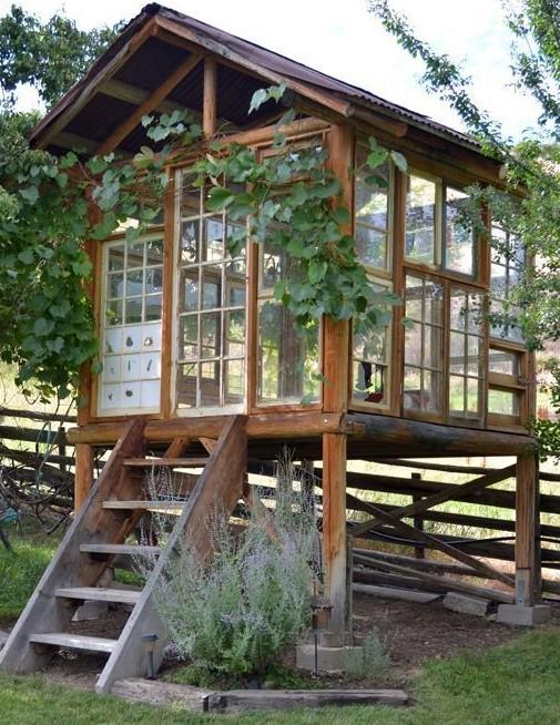 Jolies cabanes de jardin