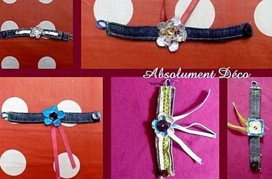 Faire un bracelet en matériau récup !