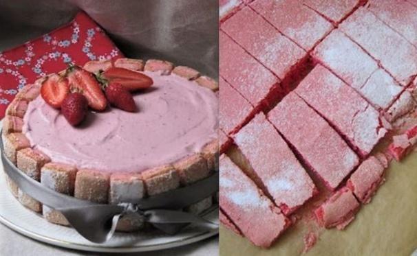 Gâteaux de biscuits roses de Reims