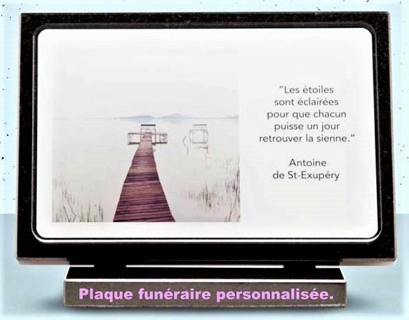 La plaque funéraire personnalisée, pour un dernier hommage