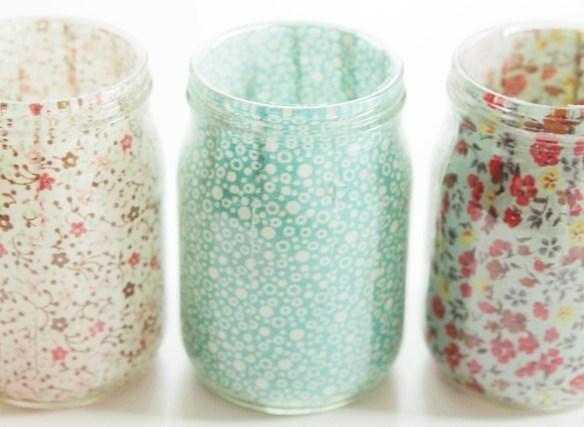 Comment recycler vos pots et bocaux en verre for Decoration pot de yaourt en verre