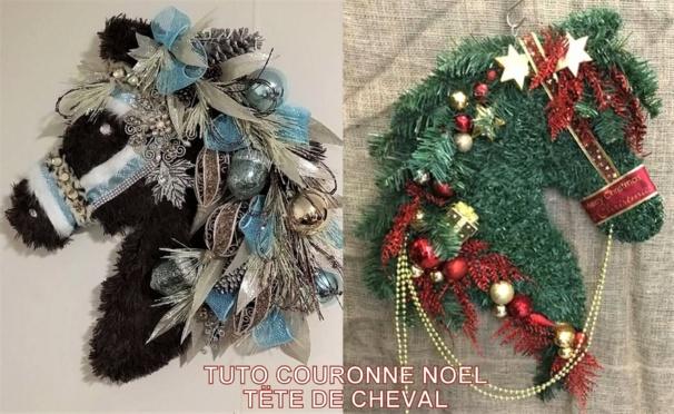 TUTO couronne Noël tête de cheval