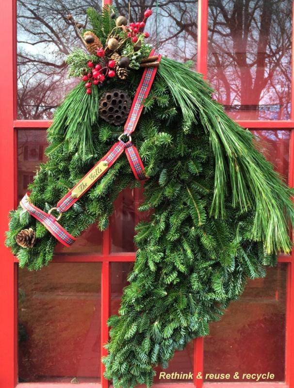 Cheval avec jockey Hanging Décoration de Noël Arbre Décoration