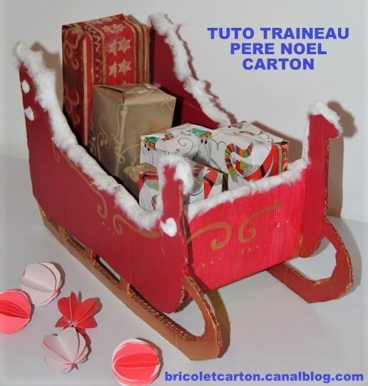 TUTOS traîneaux du père Noël en carton