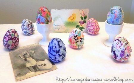 Faire des oeufs de Pâques en tissu