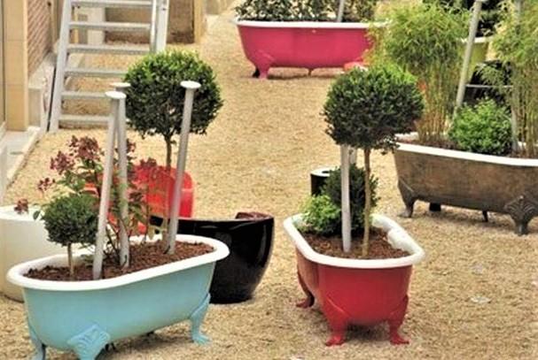 Vieilles baignoires recyclées pour le jardin !