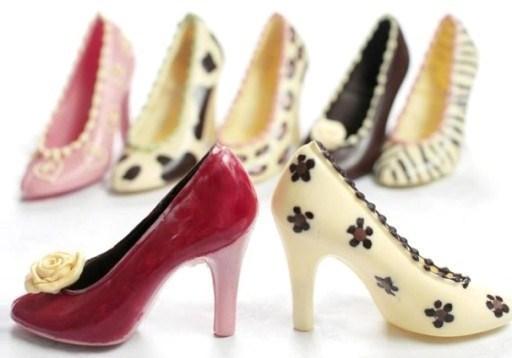 Les chaussures en chocolat de Frances Cooley..