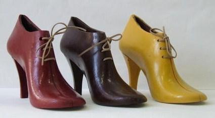 Les chaussures en chocolat du chocolatier Thierry Colas..