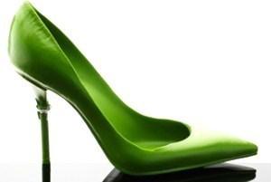 La chaussure au thé vert et chocolat de Jean Paul Hévin..