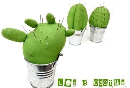 Faire des cactus en tissu !