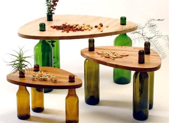 Marre des cadavres de bouteilles vides, faîtes en des tables basses..