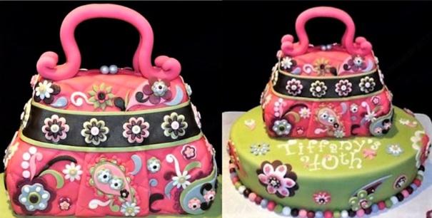 Superbes gâteaux sac à main