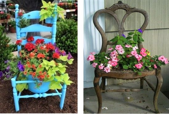 Belles id es r cup et d co pour le jardin - Decoration de jardin a fabriquer ...