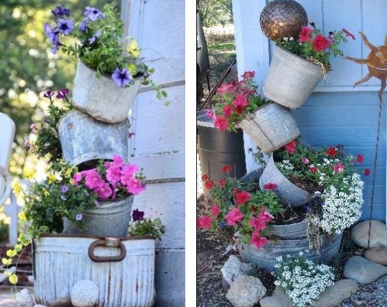Decoration jardin pot fleur for Deco jardin fleur