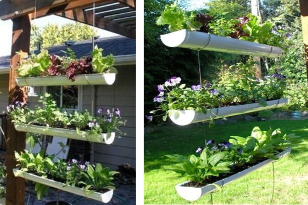Suspensions originales au jardin !