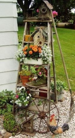 déco jardin avec objets de recup