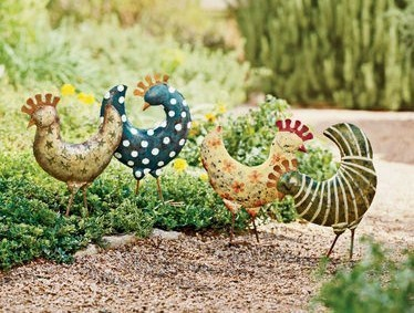 Poules d coratives pour le jardin for Poule decoration exterieur