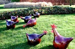 Poules décoratives pour le jardin !