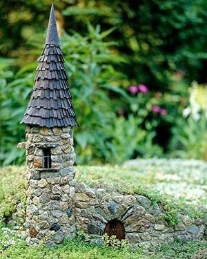 Maisons miniatures en pierre pour d corer le jardin for Decorer son jardin avec des pierres