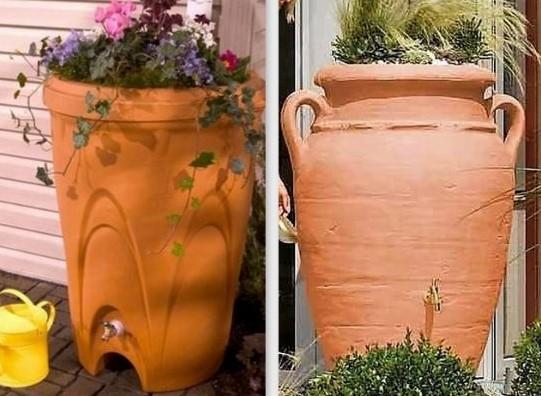 récupérateur d'eau imitation méga pot de fleur !