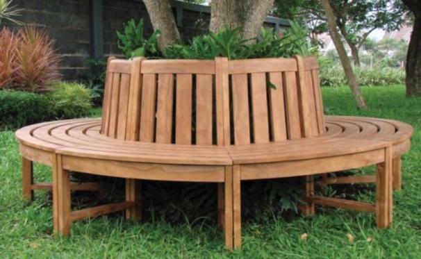Habiller un arbre avec un banc en bois des mod les page 2 - Fabriquer une banquette avec des palettes ...