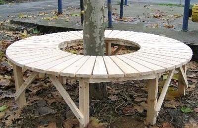 Comment habiller un arbre avec un banc circulaire, les tutos !