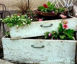 Recyclez vos vieux meubles au jardin