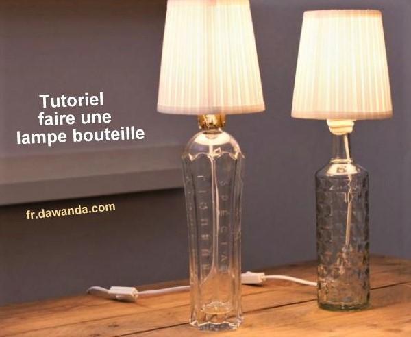 fabriquer une lampe avec une bouteille design de maison design de maison. Black Bedroom Furniture Sets. Home Design Ideas