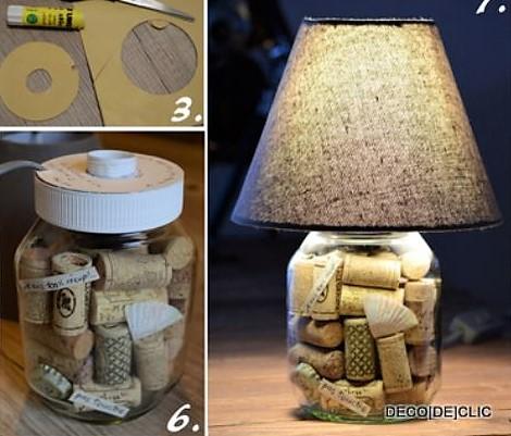 Faire une lampe bouteille le tuto - Comment faire une lampe avec une bouteille en verre ...