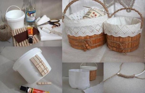 Recycler des pinces linge en bois for Manualidades con cosas de casa