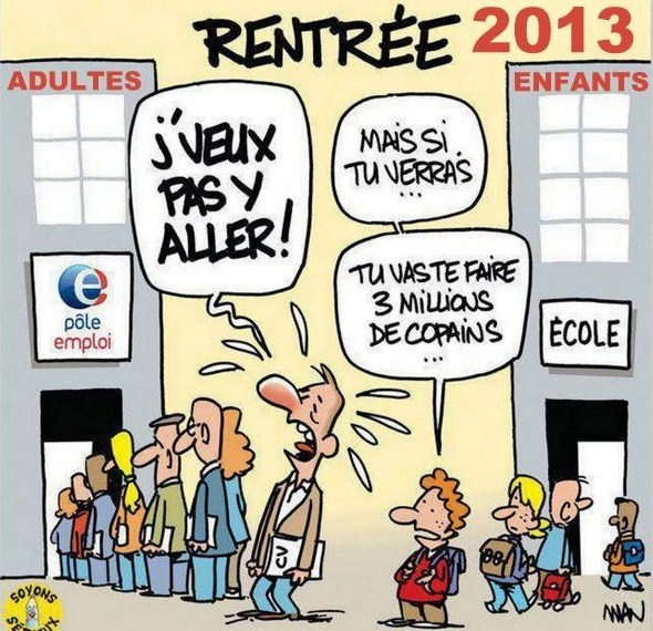 """Dessins humoristiques """"la rentrée"""" !"""