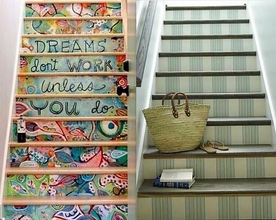 decorer son escalier cool comment rveiller un escalier with decorer son escalier dcoration. Black Bedroom Furniture Sets. Home Design Ideas