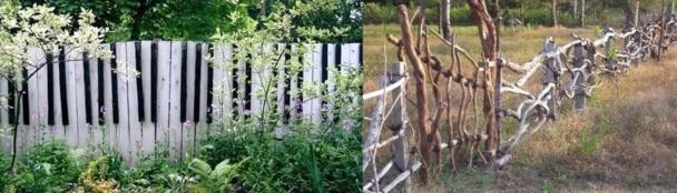 Palissades et clôtures insolites !