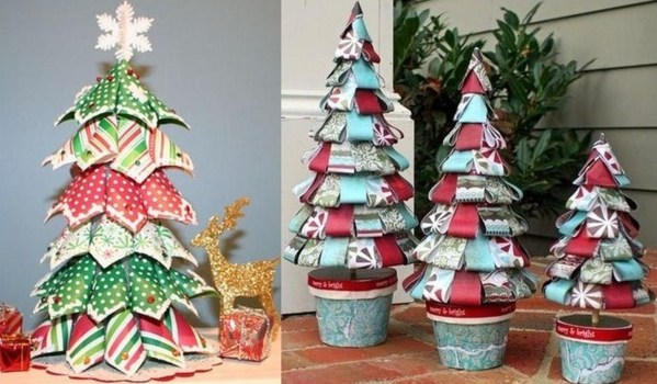 Faire un sapin de no l en papier id es d cos no l - Comment faire une decoration de noel en papier ...