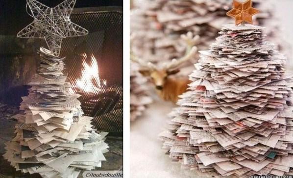 Faire un sapin de Noël en papier, idées décos Noël !