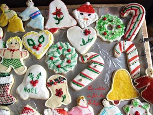 10 recettes biscuits de Noël décorés