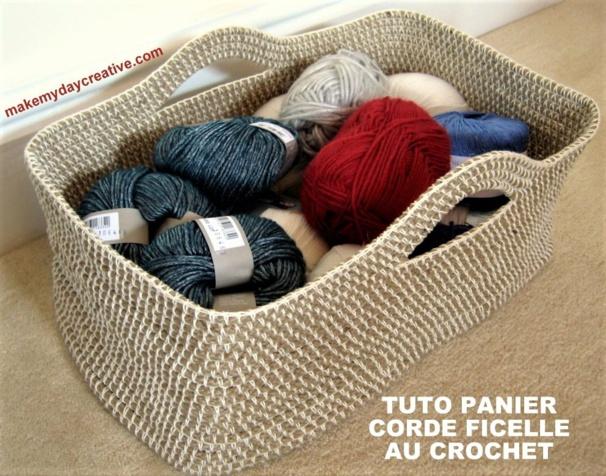Idées créations au crochet, corde, ficelle, laine