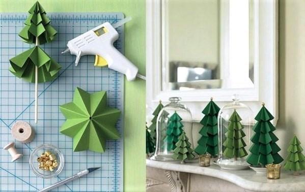 2 astuces bricolage pour faire un mini sapin en papier