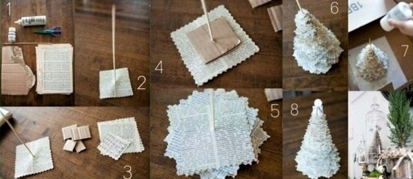 2 astuces bricolage pour faire un mini sapin en papier. Black Bedroom Furniture Sets. Home Design Ideas