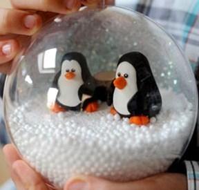 Faire une boule neige les tutos - Comment fabriquer une boule de noel ...