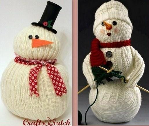 Deco noel fait maison laine