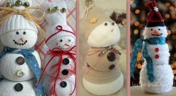 De jolis bonhommes de neige faits maison - Fabriquer un bonhomme de neige ...