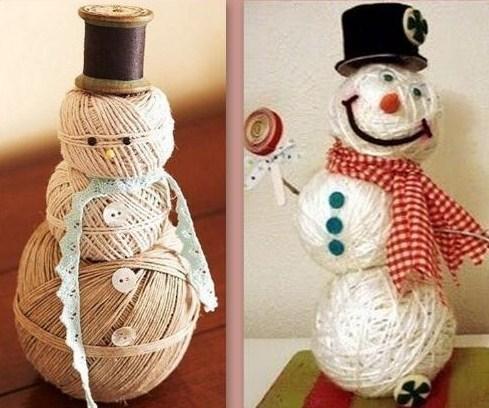De jolis Bonhommes de neige faits maison !