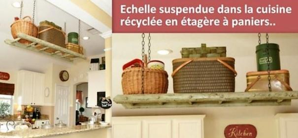Id es r cup et recyclage chelle en bois for Deco recup cuisine
