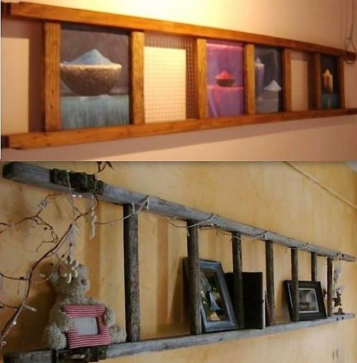 Idées récup et recyclage échelle en bois