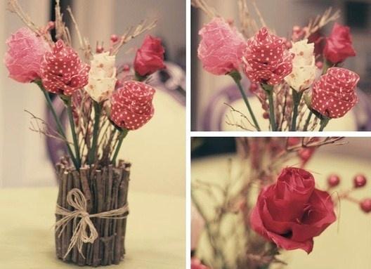 roses en tissu - au nom de la rose