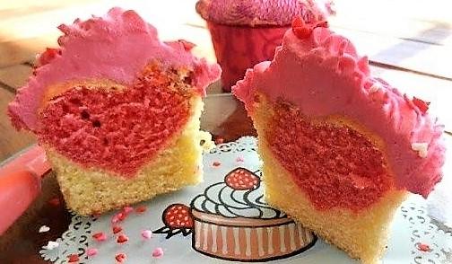 Les cupcakes de la Saint Valentin !