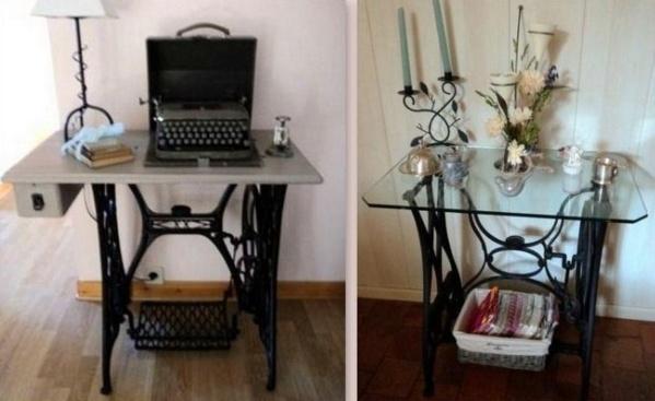 comment recycler les anciennes machines coudre - Table Machine A Coudre